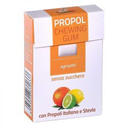 Propoliszos Rágógumi (Propolgum), cukormentes, bio, Citrusos - 25g