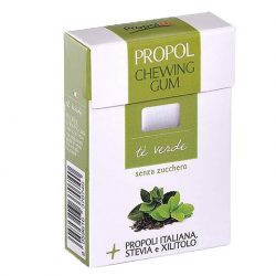 Propoliszos Rágógumi (Propolgum), cukormentes, bio, Zöld teás - 25g