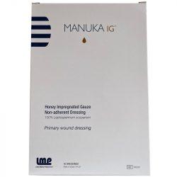 Manuka-Honig IG imprägnierte Gaze - 1Stück -10cm x 12,5cm