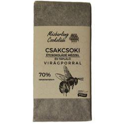 Csakcsoki étcsokoládé mézzel és virágporral 70g